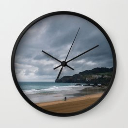 Surfers in Storm (Colour) Wall Clock