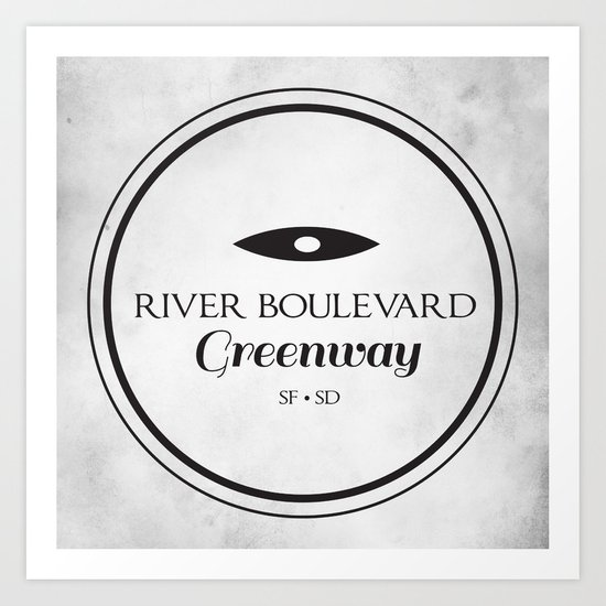 River Boulevard Greenway Art Print
