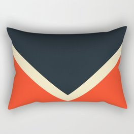 Black White And Red Colorful Retro Style Stripes Bast Rectangular Pillow