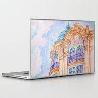 art nouveau Laptop & iPad Skins featuring art nouveau by Tereza Del Pilar