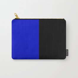 Psychedelic black and blue stripes V. Carry-All Pouch