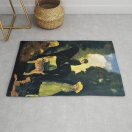 12,000pixel-500dpi - Children, Dogs And Pony - Arthur Bowen Davies Rug