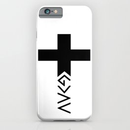 God is greater than the highs and lows Cross iPhone Case