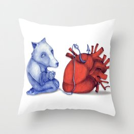 Love is a dog from hell Throw Pillow