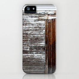 Brown and White Door iPhone Case