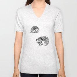 Cute hedgehogs Unisex V-Neck