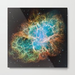 Crab Nebula Deep Space Telescopic Photograph Metal Print