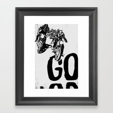 The Horde Motorcycle Art Print Framed Art Print