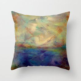 Untitled Textured Abstract III Throw Pillow