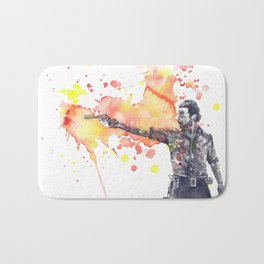 Portrait of Rick Grimes from The Walking Dead Bath Mat