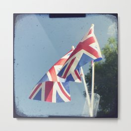 Flags - Union Jacks against a blue sky Metal Print