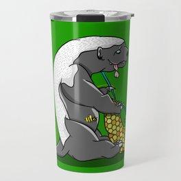 Honey Badger Knitting Travel Mug