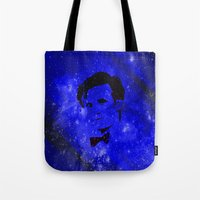 doctor who Tote Bags featuring Doctor Who by Fimbis
