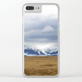 The Home of the Long White Cloud on the Road to Milford Sound Clear iPhone Case