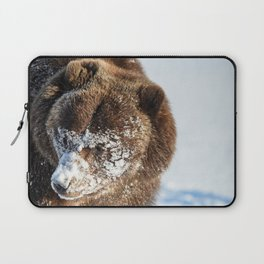 Alaskan Grizzly in Snow - 2 Laptop Sleeve