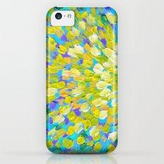 SPLASH 2 - Bright Bold Ocean Waves Beach Ripple Turquoise Aqua Lime Lemon Colorful Rainbow Wow Slim Case iPhone 5c