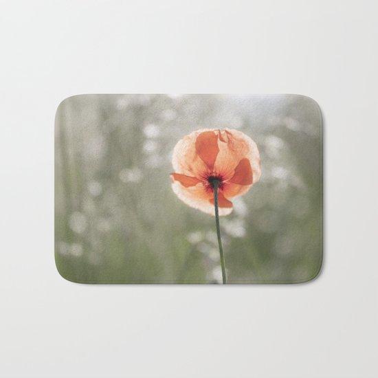 Poppy at backlight - Poppies Blossom Flower Floral Bath Mat