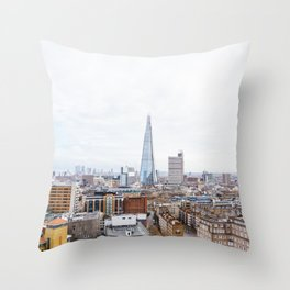 City Skyline View of the Shard, London Throw Pillow