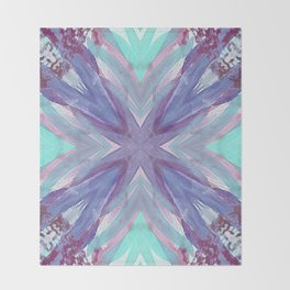 Watercolor Abstract Throw Blanket