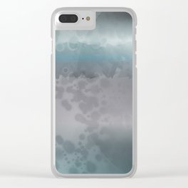 Space Disk Plate Clear iPhone Case
