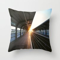 jewish Throw Pillows featuring The light at the end of the tunnel by Brown Eyed Lady