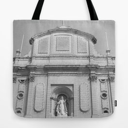 The Old Church BW  Tote Bag
