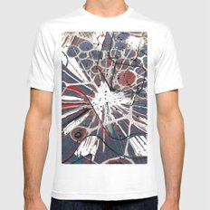 Abstract Duck Face MEDIUM White Mens Fitted Tee
