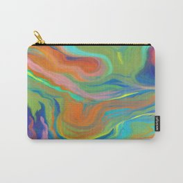 AGATE INTERPRETED:  HOT WAVES SUMMER BREEZE OIL PAINTING Carry-All Pouch