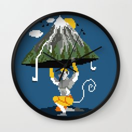Hanuman Mountain Pixel Art Wall Clock