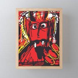 Devil Framed Mini Art Print