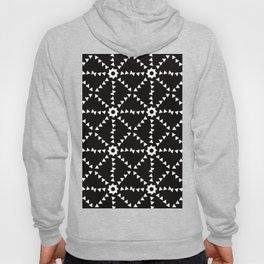 Triangle Snowflakes In Black and White Hoody