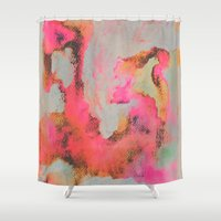 georgiana paraschiv Shower Curtains featuring Bright Day by Georgiana Paraschiv