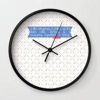 dr seuss Wall Clocks featuring Dr. Seuss Quote by Denise