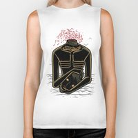 camus Biker Tanks featuring the stranger - camus by miles to go