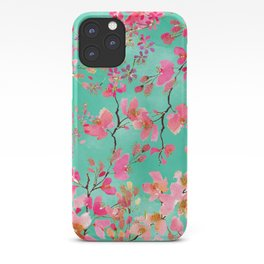 Elegant hand paint watercolor spring floral iPhone Case
