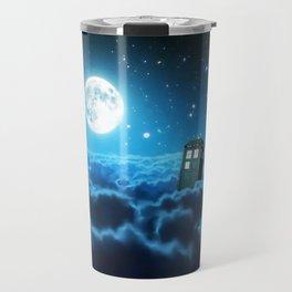 Tardis Cloud And Moon Travel Mug