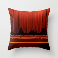 theatre Throw Pillows featuring Classic Theatre by creations by Cinnamon