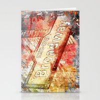 broadway Stationery Cards featuring Broadway  by LebensART