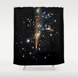Sky Glitter Shower Curtain