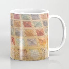 The Wall full of colorful cubes, pyramids Coffee Mug