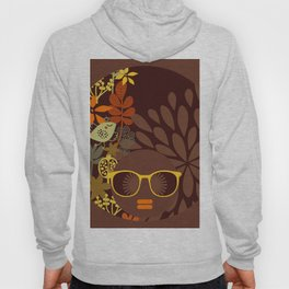 Afro Diva : Sophisticated Lady Retro Brown Hoody