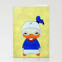 donald duck Stationery Cards featuring A Boy - Donald Duck by Christophe Chiozzi