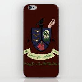 Addams Credo  iPhone Skin