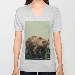 Grizzly Bear Unisex V-Neck