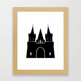 Kingdom Castle Silhouette Framed Art Print