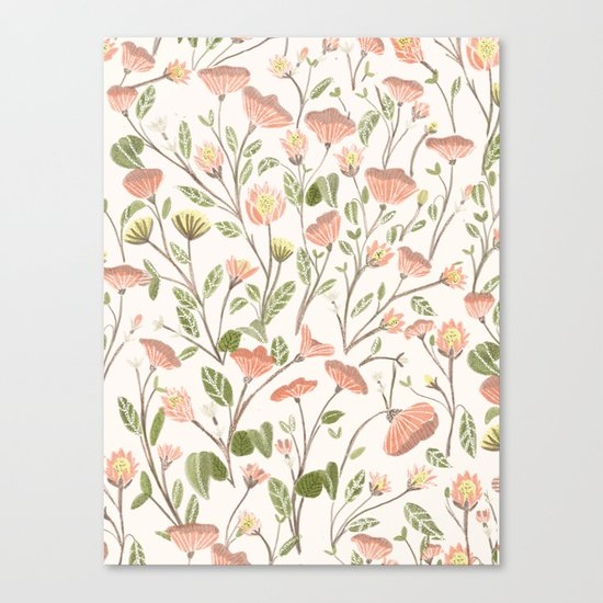 Spring Floral Pattern Canvas Print
