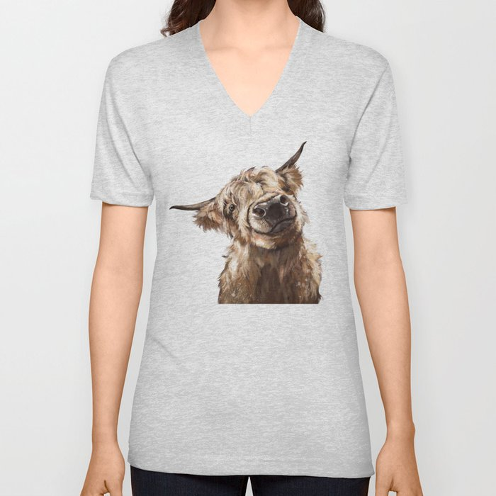 Highland Cow Unisex V-Ausschnitt