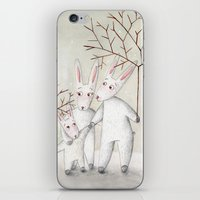 bunnies iPhone & iPod Skins featuring Bunnies by Arianna Usai
