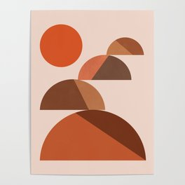 Abstraction_Mountains_Bohemian_MInimalism_008 Poster