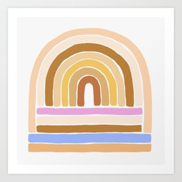 rainbow : tan Art Print